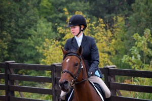 SIU-C Rider Emma Willis competes Eclipse at the hunt show, Oct 2015