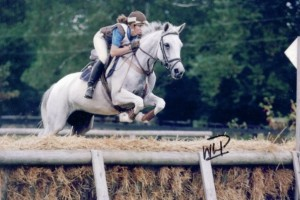 Jill O'Donoghue competes Gazelle in the cross country phase of eventing