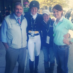 Mark, Meghan, Jill, and Kelty O'Donoghue before the Dressage at Rolex 2013